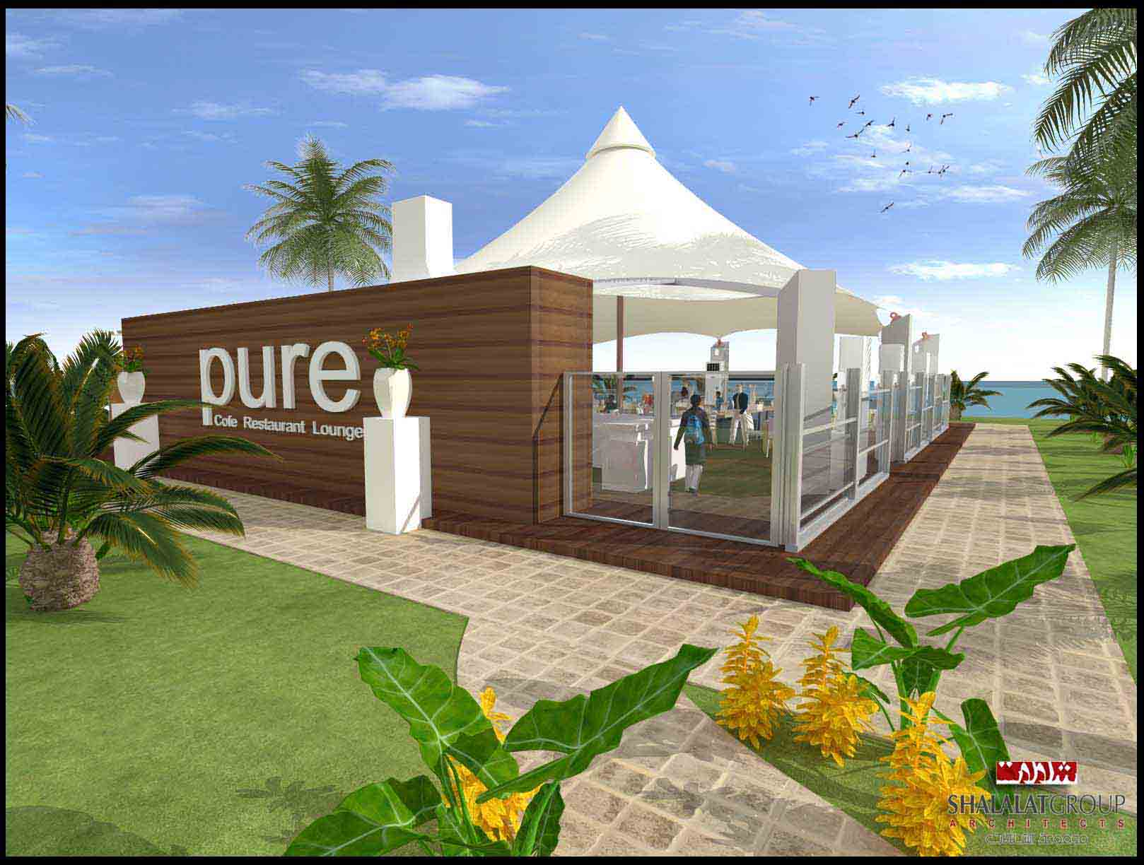 Pure Restaurant,lounge and cafe at IRC